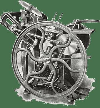 old fashioned Gordon Jobber printing press