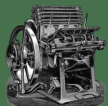 old fashioned Phoenix Presse printing press